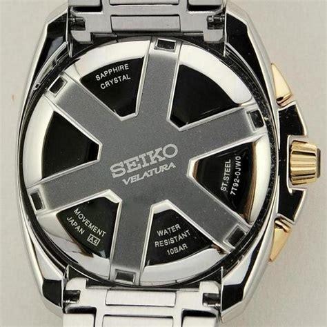 Seiko Velatura Rosegold Combi White Brown Leather seiko velatura chronograph diamonds review