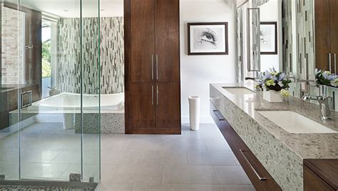master bathroom tile designs glass mosaics contribute to luxurious master bath design