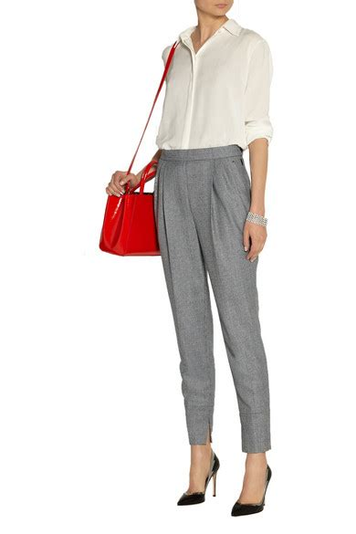 Cropped Wool Tapered fendi cropped wool tapered net a porter