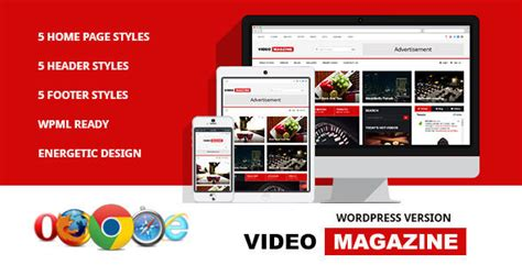 bootstrap themes rtl 5 stunning streaming video news magazine wordpress themes