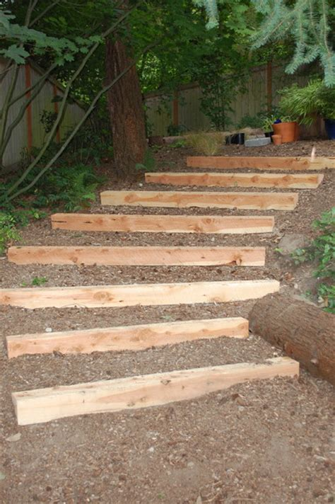 Landscape Timbers Steps Timber Walls And Steps