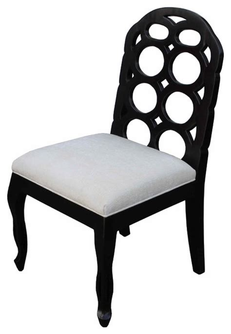 black white circle dining chair contemporary dining