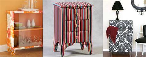 decorar muebles viejos con papel forrar muebles con papel pintado mobles