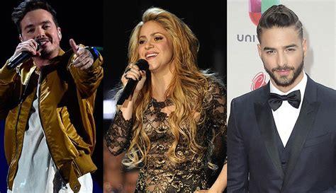 Residente Maluma Y Shakira Lideran Lista De Nominados A Grammy 2017 Lista Completa Lista Completa De Nominados Billboard 2018 Entretengo