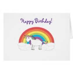 unicorn birthday card zazzle