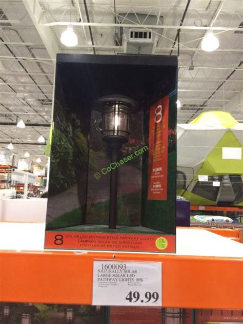 solar pathway lights costco naturally solar large solar led pathway lights 8 pk model