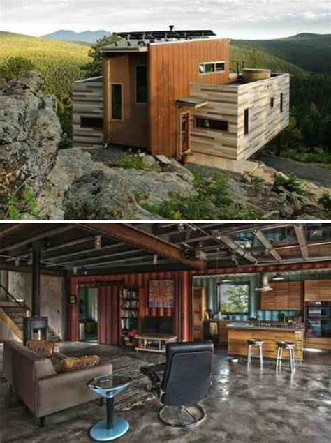 shipping crate container house inside out