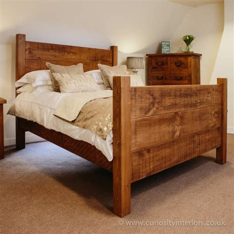 Handmade Bedroom Furniture Uk - buy rustic plank wood bed uk handmade bedroom furniture