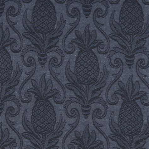 matelasse upholstery fabric blue pineapples woven matelasse upholstery grade fabric by