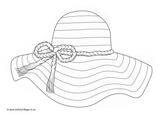 Sun Hat Coloring Page