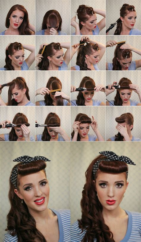 easy vintage hairstyles easy vintage hairstyles for long hair step by step long