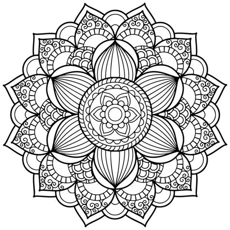 coloring pages of mandala designs mandala coloring pages for adults for android ios and