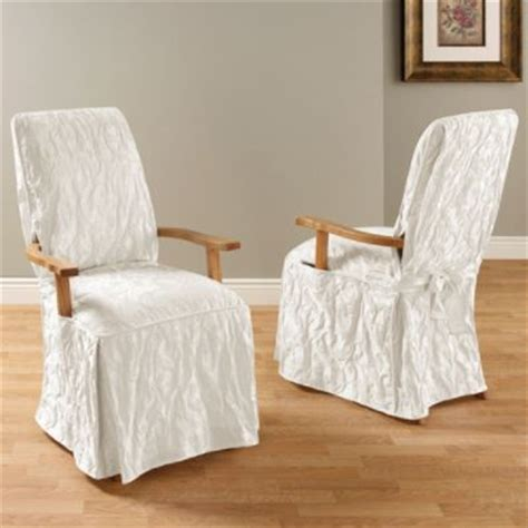 Sure Fit Dining Room Chair Covers With Arms Sure Fit Matelasse Damask Dining Room Chair With Arms