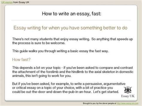How To Write Essays Faster by Latter Il How To Write Essays Fast Minutes Sera Le