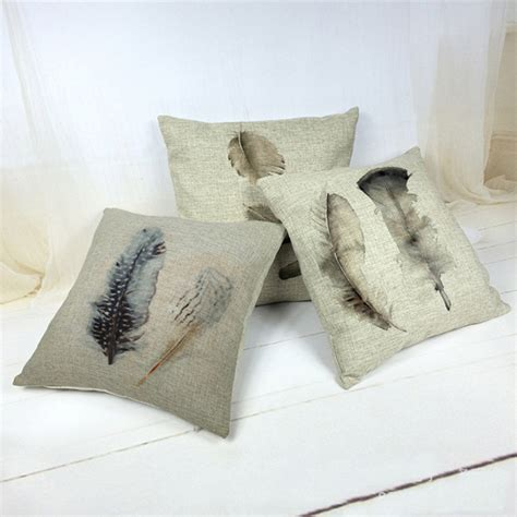 aliexpress buy feather as a pattern pillow linen