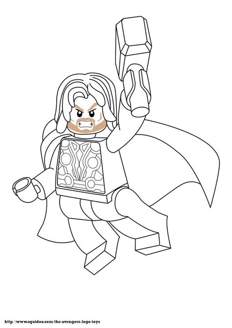 avenger lego coloring page thorjpg birthday themes