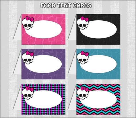 printable monster name tags 6 best images of monster high free printable tags