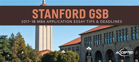 Foster Mba Application Deadline by Stanford Gsb Mba Essay Tips Deadlines The Gmat Club