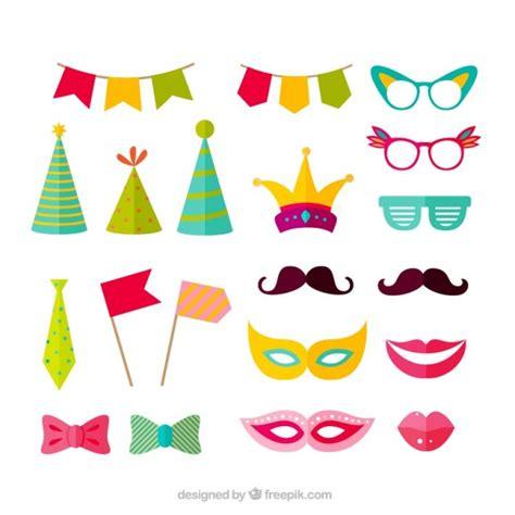 imagenes vectores fiesta variedad de accesorios de fiesta descargar vectores gratis