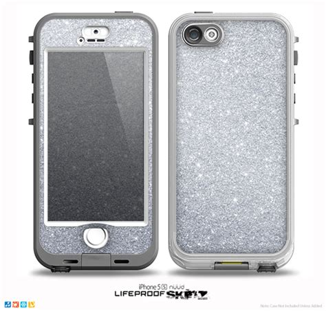 Glitter Skin For Iphone 5 the silver sparkly glitter ultra metallic skin for the