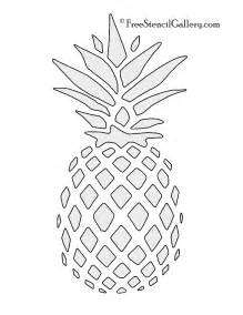 pineapple template pineapple stencil free stencil gallery