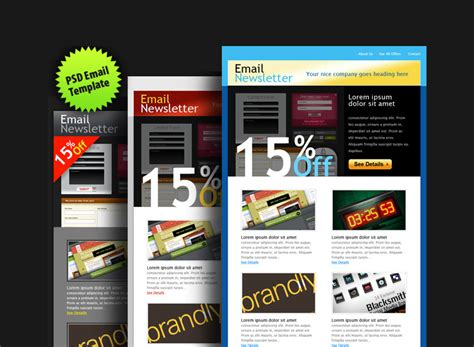 30 Awesome Email Newsletter Psd Templates Wdexplorer Colorful Email Templates