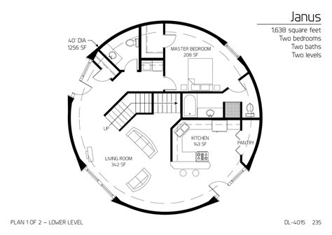 dome house plans floor plan dl 4015 monolithic dome institute