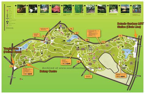 Map Of Singapore Botanic Gardens Fasci Garden Singapore Botanical Garden Map