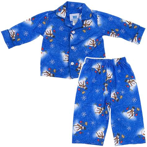 blue snowman classic christmas pajamas