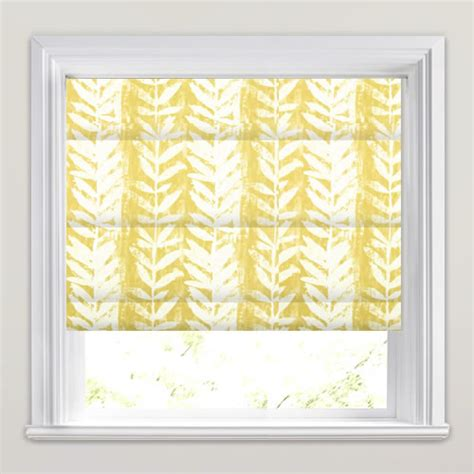 mustard patterned roller blinds beautiful mustard yellow white fern patterned roman blinds