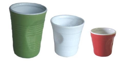 bicchieri in ceramica bicchierini accartocciati in ceramica top moka