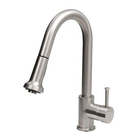 Sprayer Kitchen Faucet Vigo Single Handle Pull Out Sprayer Kitchen Faucet With Soap Dispenser In Stainless Steel