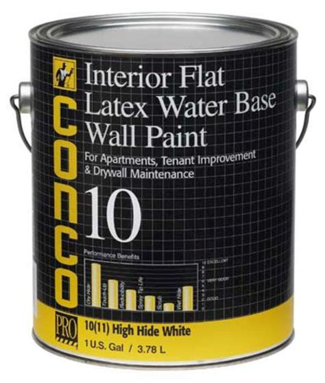 conco 10 flat water based interior wall paint 1 gal at menards 174