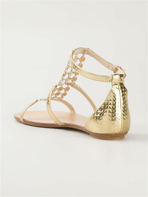 jimmy choo gold sandals jimmy choo wyatt sandals in gold metallic lyst