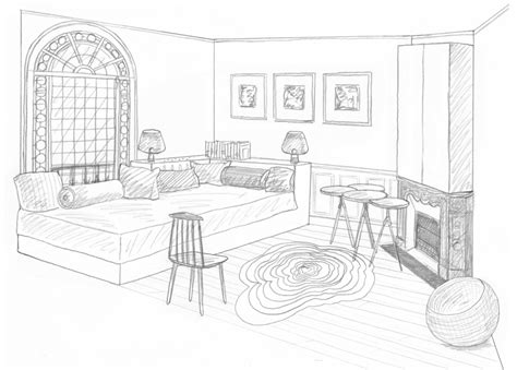 dessin chambre en perspective dessin chambre d appoint rdc interior perspective