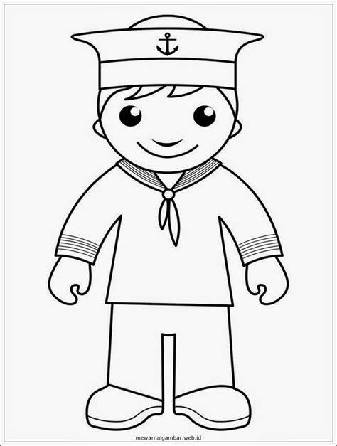 Coloring Mewarnai Profesi gambar mewarnai pelaut mewarnai gambar