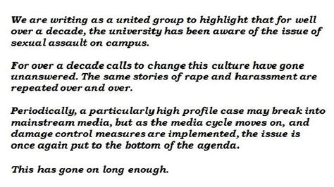 Request Letter Usyd Of Sydney Sexual Assault Women S Officers Write Scathing Letter