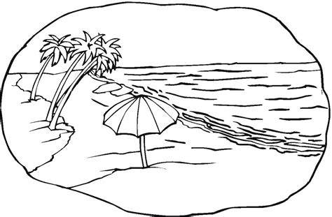 free coloring pages of beach towel