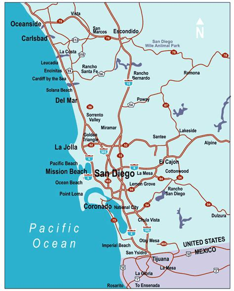 map of san diego ca san diego county map