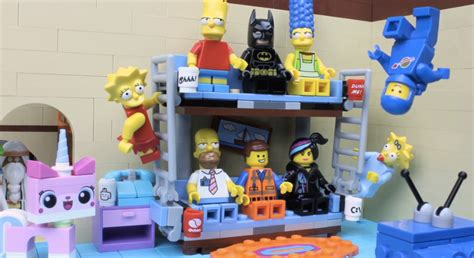 lego simpsons couch simpsons lego couch gag combines fox show and the lego