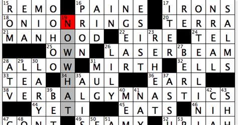 For An Mba Hopeful Crossword by Rex Does The Nyt Crossword Puzzle Edmonton Six