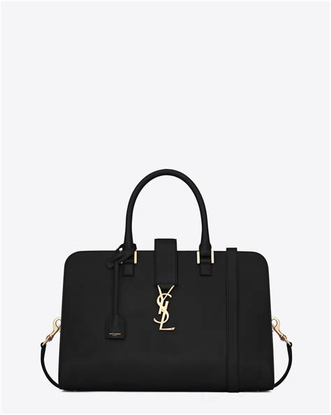 saint laurent medium cabas monogram saint laurent  black