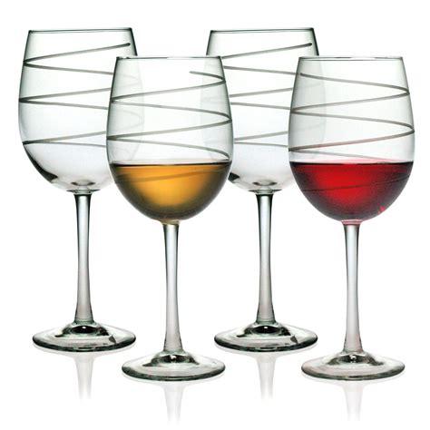 designer barware spiral design wine glasses