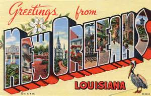 greetings from new orleans louisiana large letter postc flickr