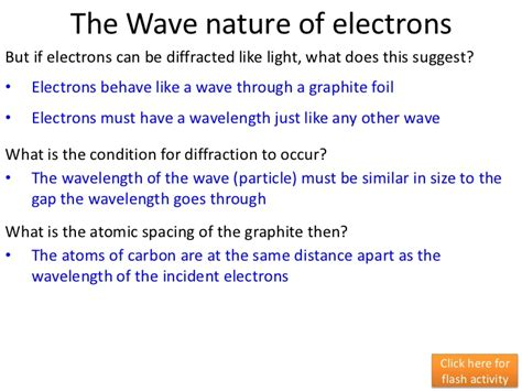 pattern in the nature and properties of the elements wave particle duality