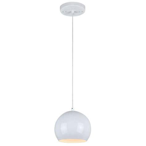Westinghouse 1 Light White Adjustable Mini Pendant With Adjustable Mini Pendant Lights