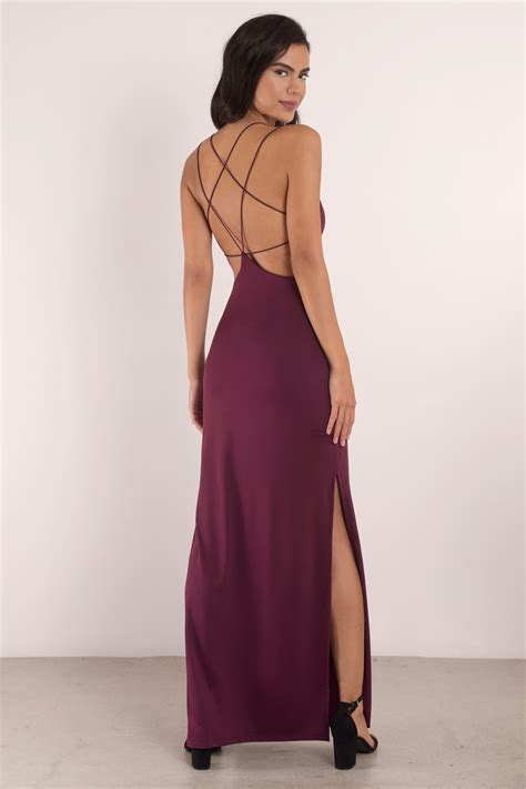 Kasandra Longdress wine maxi dress open back dress prom dress maxi