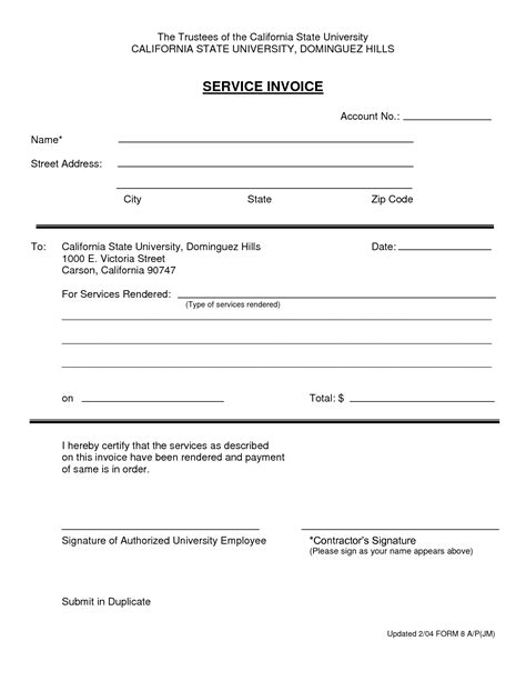 invoice template for services rendered exles of invoices for services rendered