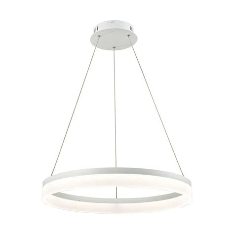 Pendant Light Diffuser Cycloid 1 Light Matte White With Acrylic Diffuser Medium Led Pendant Tn 93056 The Home Depot