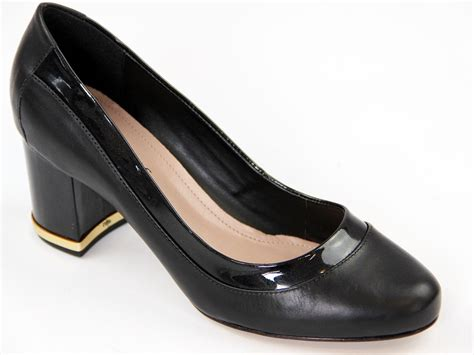 laceys quarter retro 60s mod patent trim court shoes in black